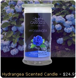 Hydrangea Scented Candle