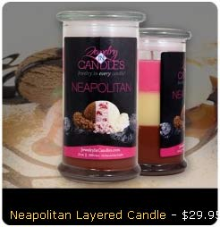 Neapolitan Layered Candle