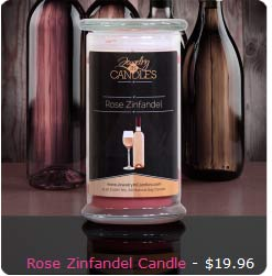 JIC Rose Zinfandel scented Candle