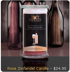 Rose Zinfandel Candle