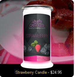 Strawberry Scented Candle